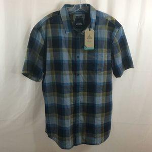 NWT Prana Benton Short Sleeve Button Down Shirt